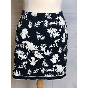 Michael Kors black & white Flowers mini skirt